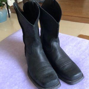 ARIAT Men's Rambler Rough Leather Boots Black 10D